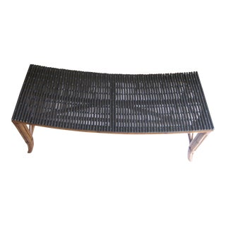 Palecek Rattan Bench For Sale