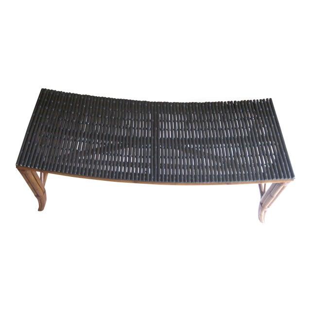 Prime Palecek Rattan Bench Theyellowbook Wood Chair Design Ideas Theyellowbookinfo