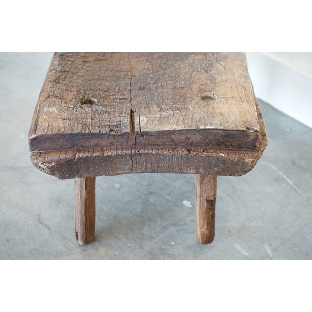 Small Primitive Wooden Table For Sale In Nashville - Image 6 of 10