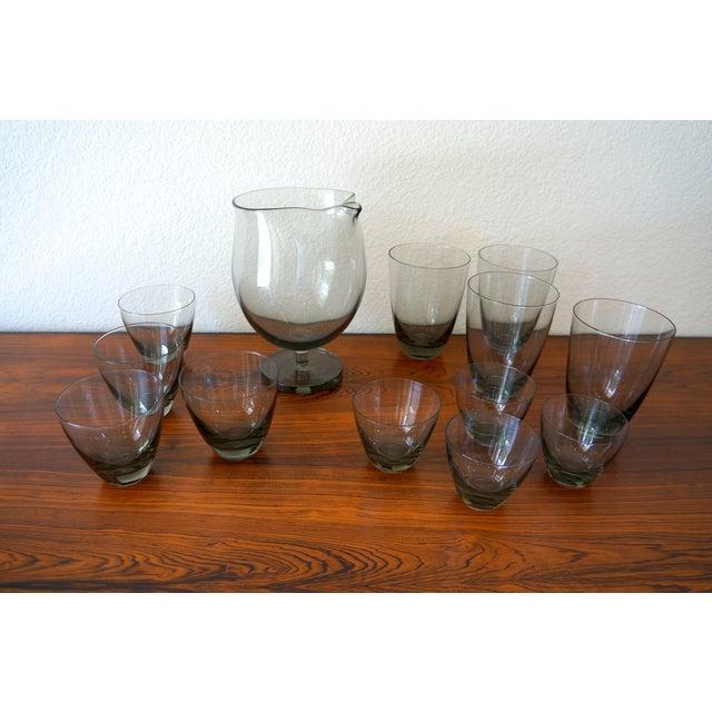 Vintage Holmegaard Smoked Glass Drink Set - Image 5 of 5
