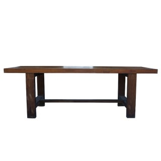 20th Century French Solid Walnut Conference Table For Sale