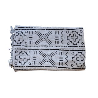 Contemporary African Cotton Mudcloth Throw For Sale