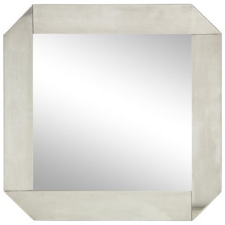 Minimalist 1970s Stainless Steel Mirror For Sale