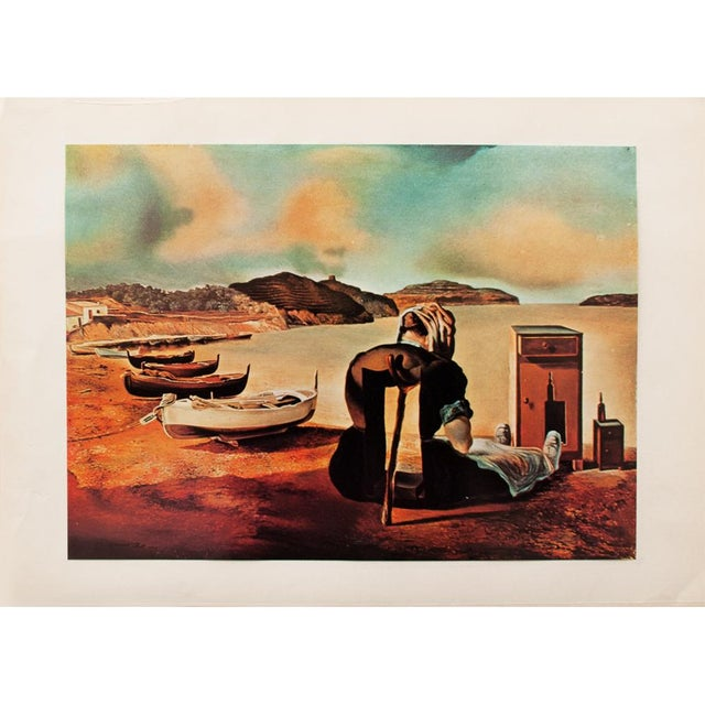 "1957 Salvador Dalí, ""Le Sevrage Du Meuble Aliment"" Large Period Lithograph Print For Sale In Dallas - Image 6 of 10"