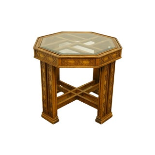 Late 20th Century Gordon's Furniture Johnson City Asian Inspired Octagonal Accent End Table For Sale