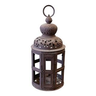 Cut Metal Lantern For Sale