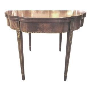 Henkel Harris Mahogany Demilune Flip Top Game Table For Sale