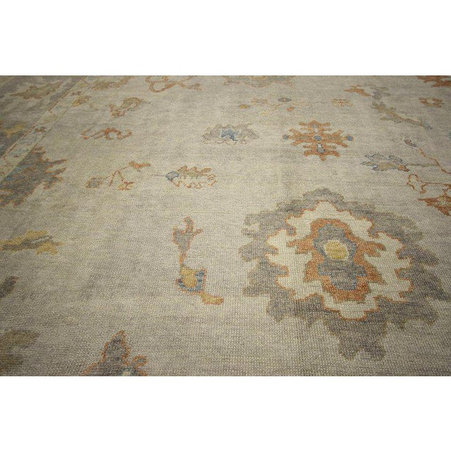 Contemporary Turkish Oushak Area Rug - 11′2″ × 14′7″ For Sale In Dallas - Image 6 of 8