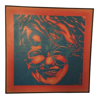Vintage Janis Joplin Artist Signed Screenprint For Sale
