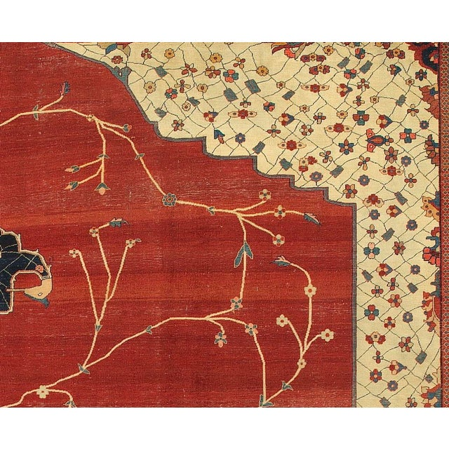 Islamic Magnificent Fereghan Sarouk Carpet For Sale - Image 3 of 3