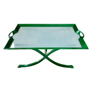 Glass Tray Coffee Table For Sale