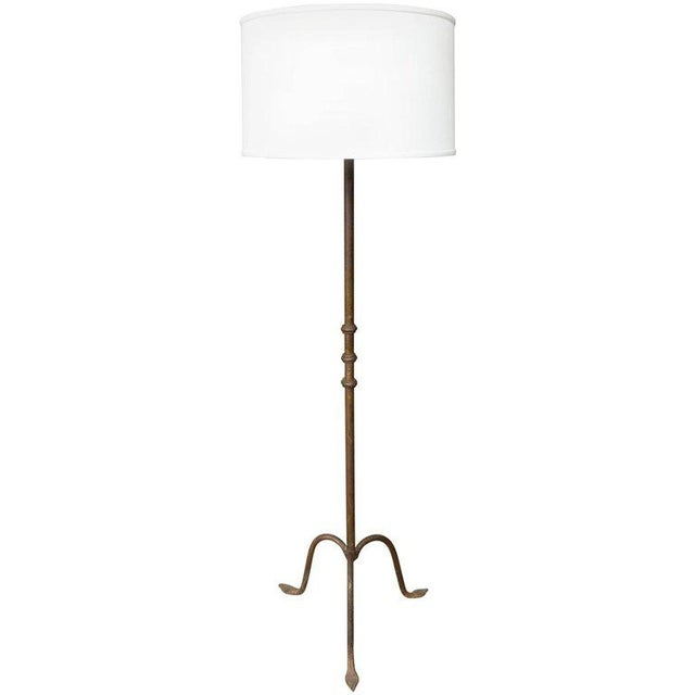 French Iron Floor Lamp With a Tripod Base - Image 5 of 5