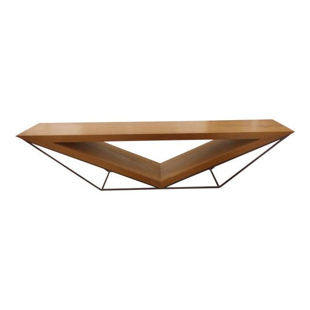 Leonardo Bueno Brazilian Imbuia Wood Sculptural Bench - Image 1 of 8