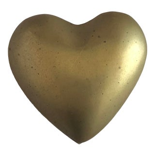 Vintage Brass Heart Box For Sale