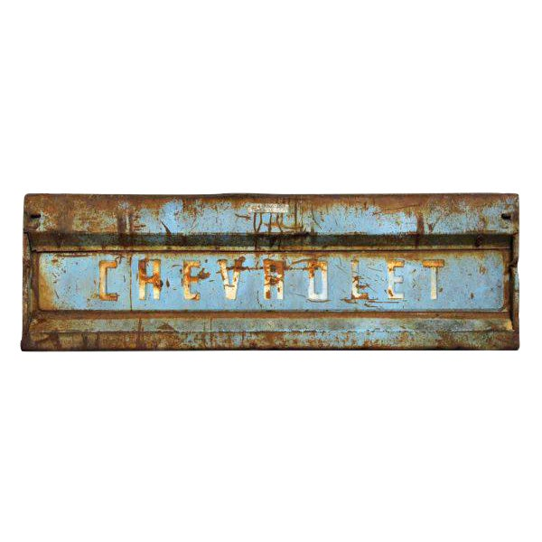Vintage Blue Chevy Pickup Truck Tailgate Door - Image 1 of 5