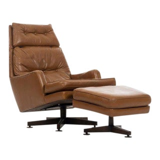 Edward Wormley Chair and Ottoman For Sale