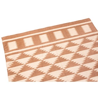 Contemporary Diamond Geometric Cotton Flat Weave Rug - 3′ × 5′11″ Preview