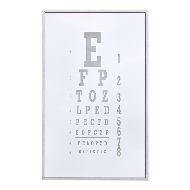 Midcentury Eye Chart Mirror For Sale
