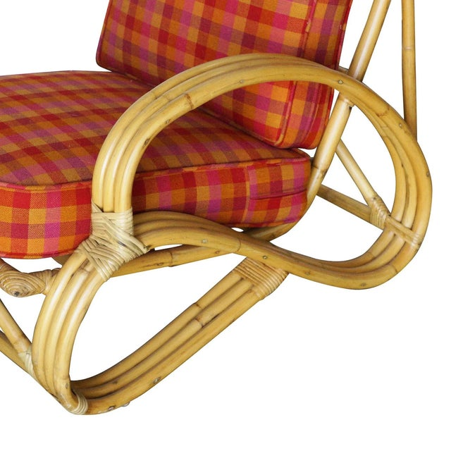 """Restored Three-Strand """"S-Arm"""" Rattan Living Room Set For Sale - Image 9 of 11"""