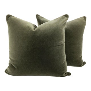 Art Deco Two-Sided Designer Mohair Pillows - a Pair For Sale
