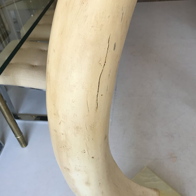 Jean Charles Faux Elephant Tusks - A Pair For Sale - Image 5 of 8