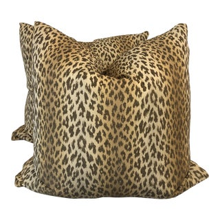 "Cheetah Stripe 22"" Pillows-A Pair For Sale"