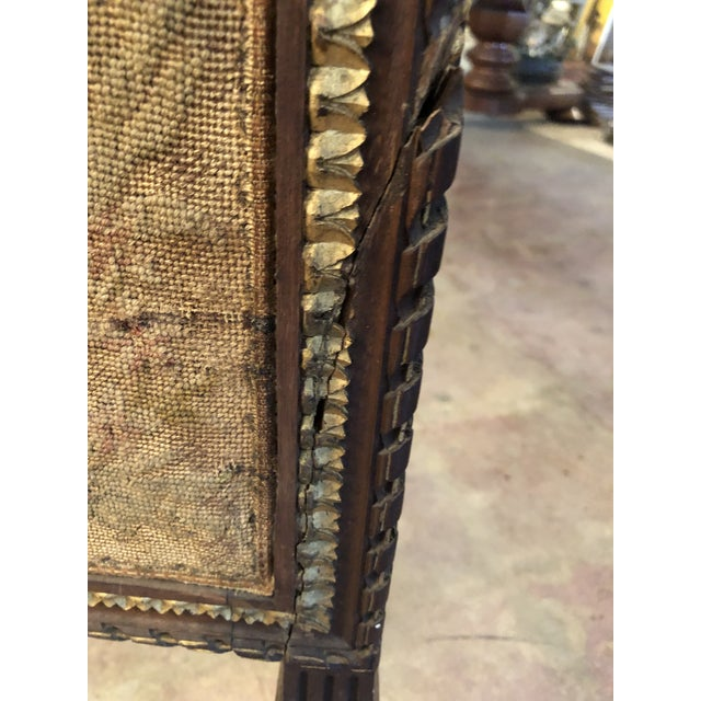 Early 19th Century French Empire Needlepoint Fireplace Screen For Sale - Image 11 of 12