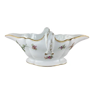 18th Century Antique Fabrique De La Courtille French Porcelain Sauce Boat For Sale