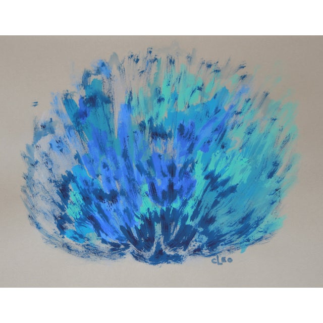 """""""Blue Sea Shell"""" Abstract Painting by Cleo - Image 1 of 2"""