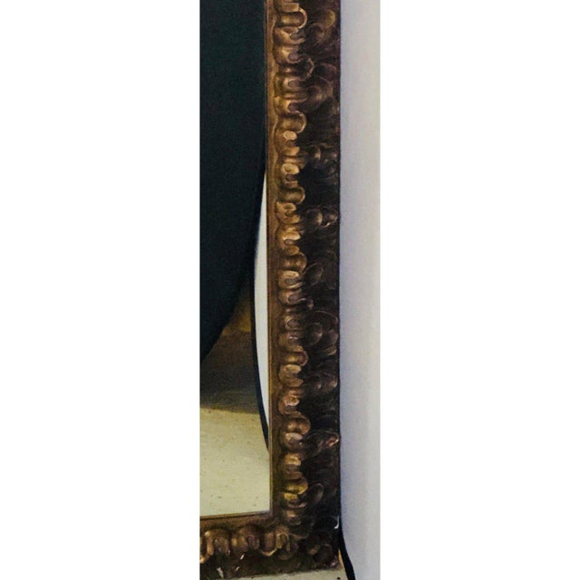 Neoclassical Monumental Gilt Gold Shell Carved Floor Mirror For Sale - Image 4 of 8