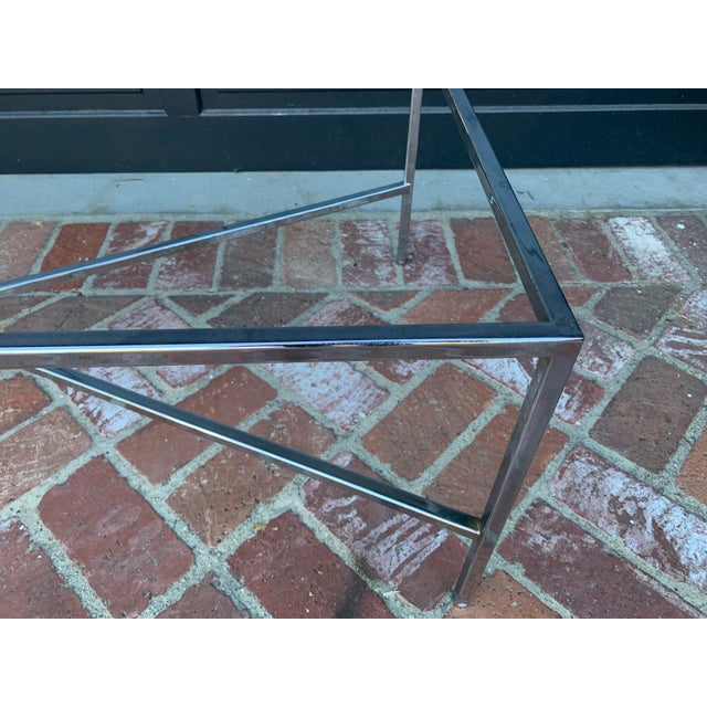 Mid-Century Modern Mid-Century Modern Chrome and Glass Coffee Table For Sale - Image 3 of 5