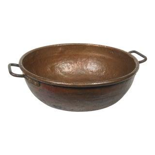 Copper Kettle Cauldron Bowl, Large For Sale