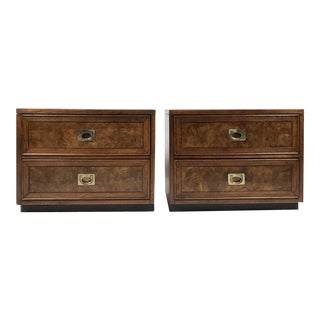 Campaign Side Tables, Pair For Sale