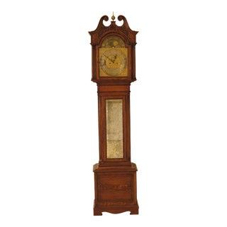 J.C. Jennens & Sons London England Oak Grandfather Clock For Sale