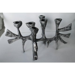 Donald Drumm Brutalist Cast Aluminum Candle Holder Preview