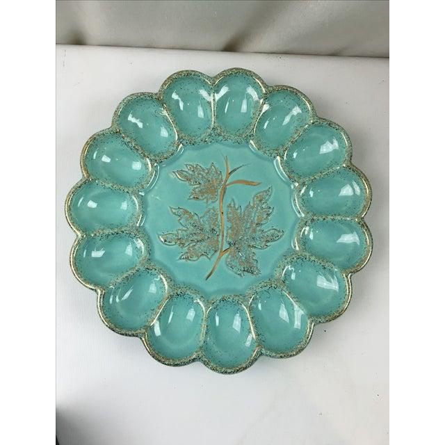 Mid-Century Ceramic Deviled Egg Plate - Image 2 of 6
