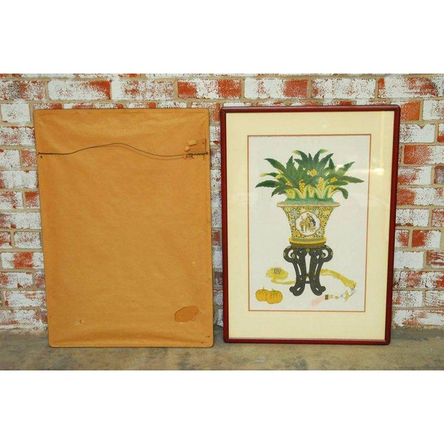 Pair of Chinese Flora and Foliate Still Life Prints For Sale - Image 10 of 10