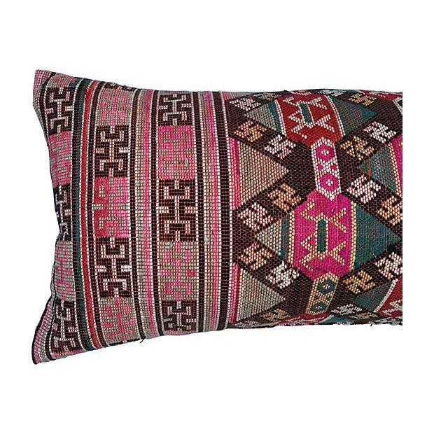 Antique Handwoven Tribal Pillow - Image 2 of 7