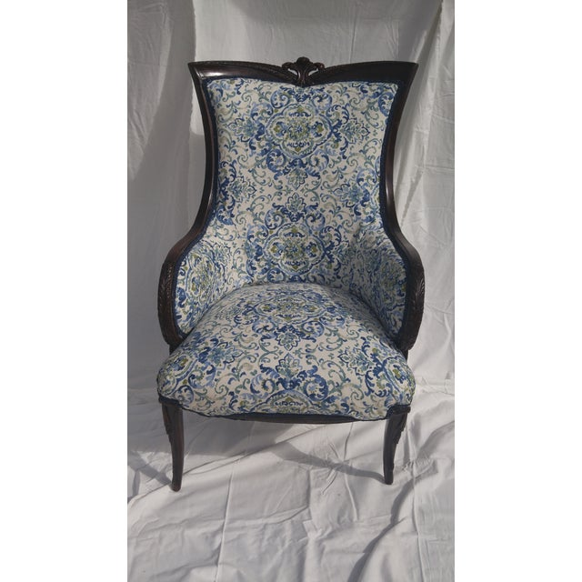 Transitional Antique Wooden Arm Chair - Image 3 of 11
