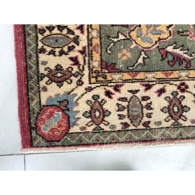 1970s Vintage Turkish Floral Area Rug - 6′2″ × 9′7″ For Sale - Image 10 of 11