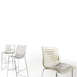 2000s, Marco Maran for Maxdesign by Knoll, Italy 'X3' Bar Stools - After Vintage Harry Bertoia 'Diamond' Wire Counter Stool- Set of 6 Preview