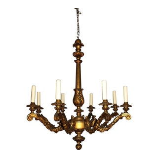 Antique gilt wood chandelier