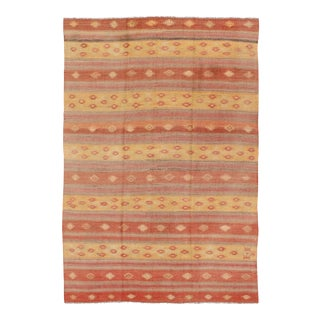 Vintage Mid-Century Turkish Kilim Rug - 5′7″ × 8′8″ For Sale
