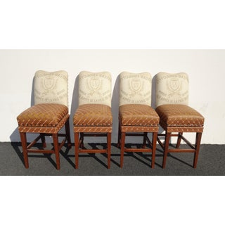 Four Designer French Country Burnt Orange Bar Stools ~ of Dave Mustaine Preview