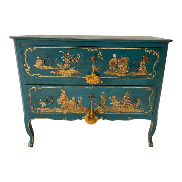 18th C. Venetian Chinoiserie Commode For Sale