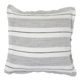 """Laguna 20"""" Pillow with Insert in Gray and Charcoal For Sale"""