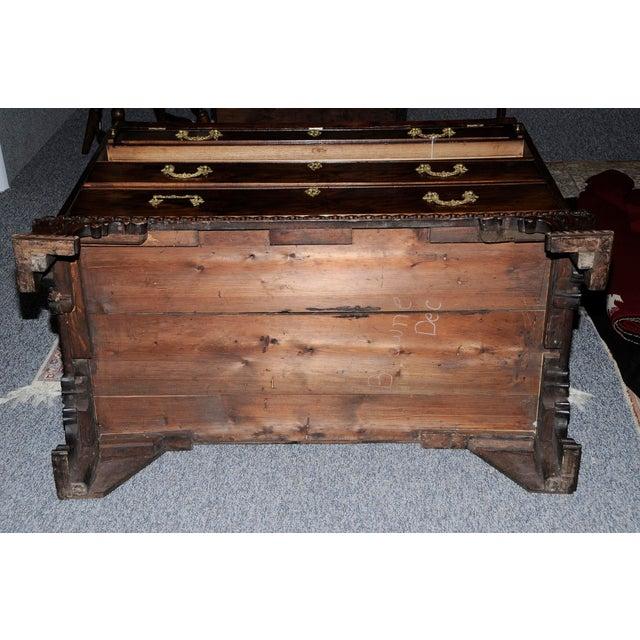 Thomas Chippendale Period Chippendale Figured Mahogany Secretary Bookcase, circa 1765 For Sale - Image 4 of 8