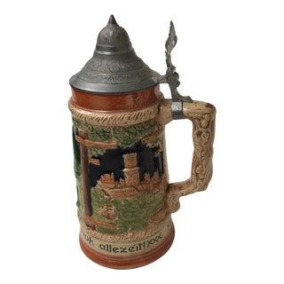 Decorative Beer Stein & Lid