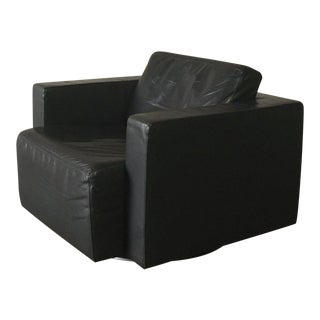 1980s Modern Walter Knoll 'Nelson 609' Black Swivel Chair For Sale