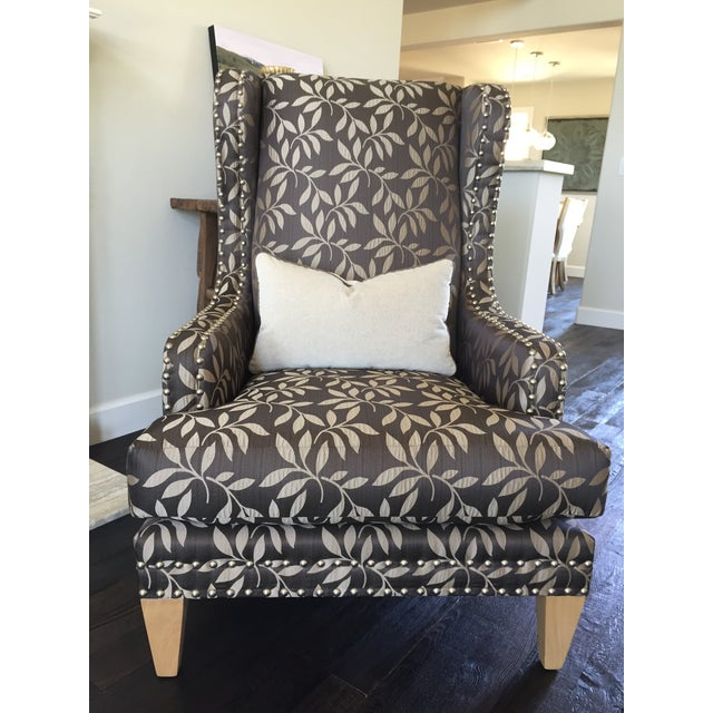 Contemporary Custom Gray Club Chairs - A Pair - Image 2 of 6